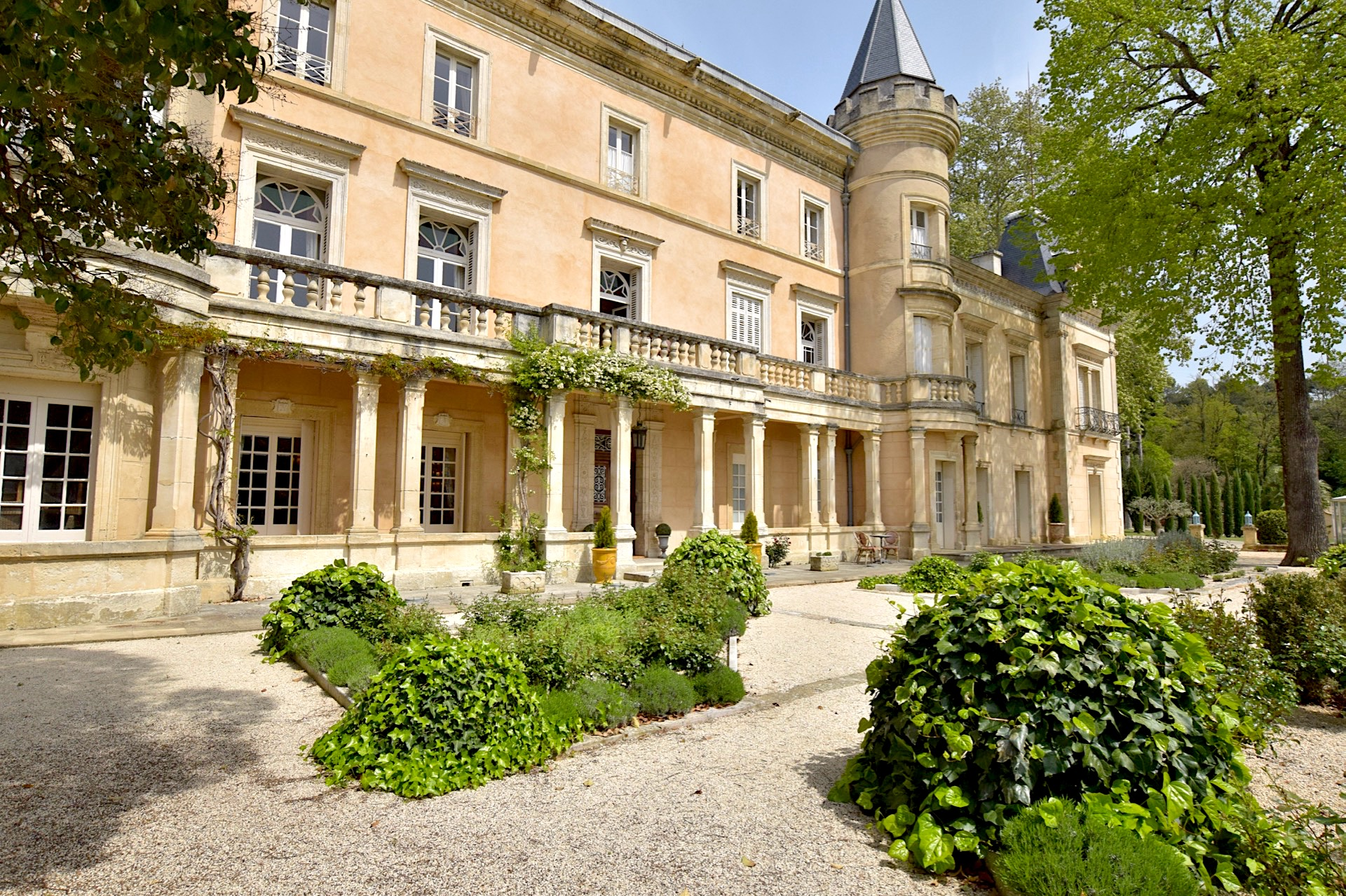 Uzès, magnificent Château on 2 acres landscaped gardens, 92,600sq ft living space, heated pool, tennis court and lily pond