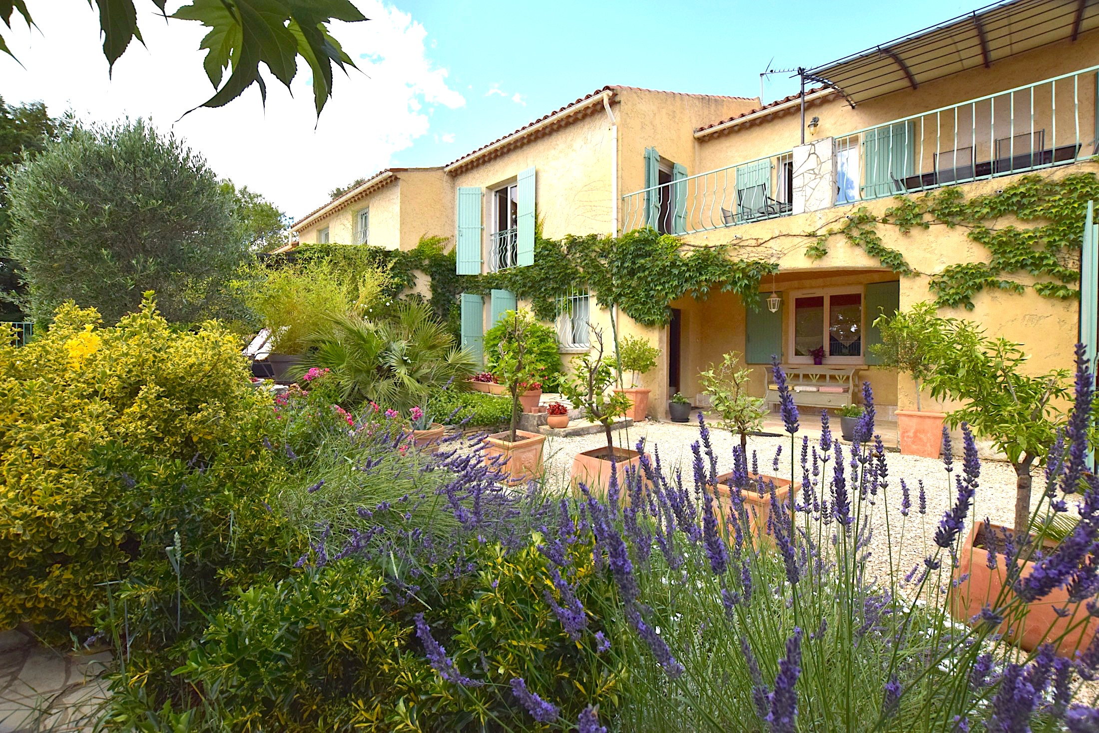 Uzès, 15mn, lovely house 250m2 on 2560 m2 enclosed gardens, with swimming pool, garage and possible rental accomodation