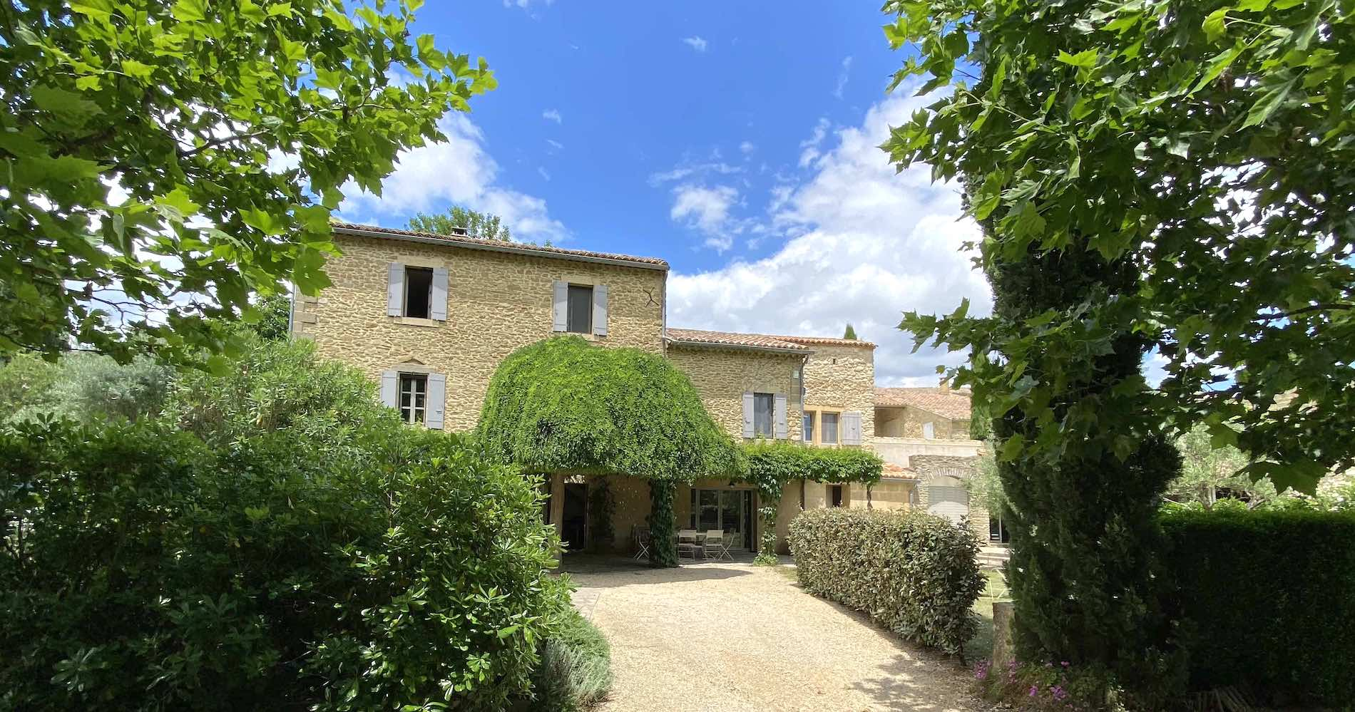 2209 : Uzès region, lovely Mas with large gardens, orchards and large heated pool.